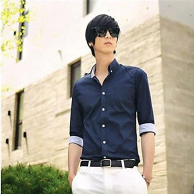 Men's Fashion Stnd Collar Shirt