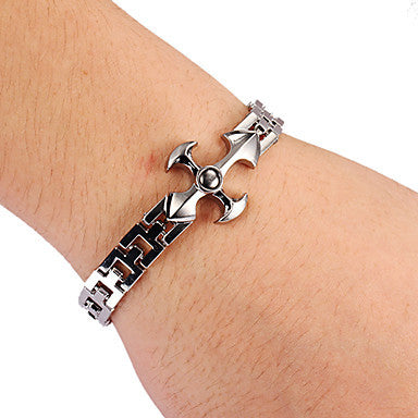 Fashion Cross Shape Unisex Silver Alloy Tennis Bracelet(1 Pc)
