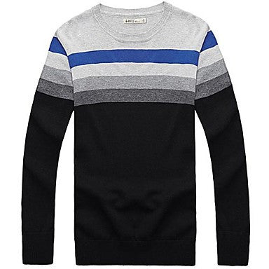 Men's Round Neck Long Sleeve Knit Sweater