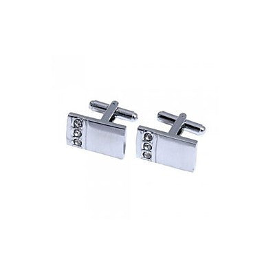 2 x Men's Metal Cufflinks Gift Party Wedding Best Man Shirt Cuff Link