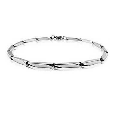 Korea Style Individual Couple 20cm WoMen's Silver Titanium Steel Tennis Bracelet(1 Pc)