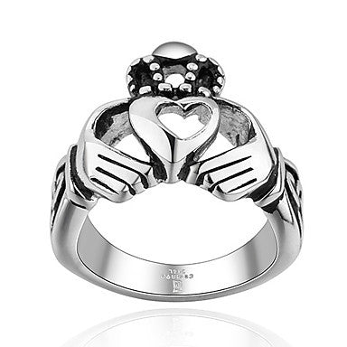 Classic Heart Hand Shape Men's Statement Ring(1 Pc)