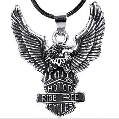 European Hotor (Flying Eagle Pendant) Silver Titanium Steel Pendant Necklace(1 Pc)