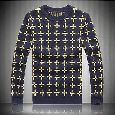 Men's Round Collar Printed Sweaters