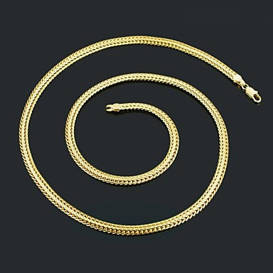 Figaro Chain 60cm Men Golden Gold Plated Chain Necklaces(5mm Width)