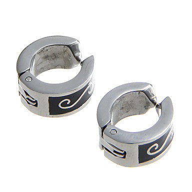 Fashion Word S Pattern Stainless Steel Silver Clip Earring(1 Pair)
