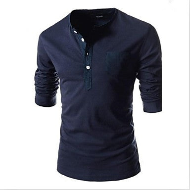 Men's Fashion Round Neck Long Sleeve Casual T-shirt