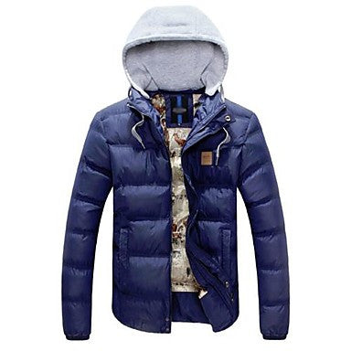 Men's Removable Hood Thick Cotton Coat