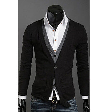Men's Causal Long Sleeve Cardigan