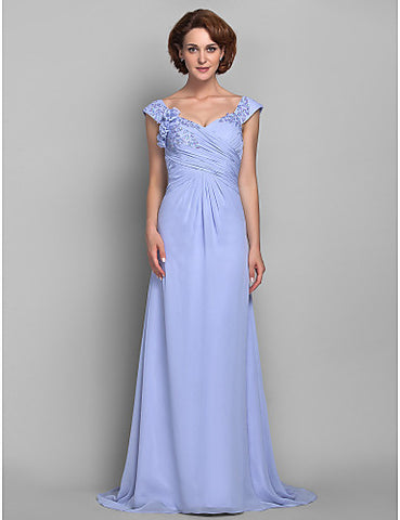 Sheath/Column Straps Chiffon Mother of the Bride Dress
