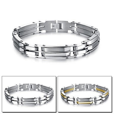 Tide Domineering Personality Double Man Titanium Steel Bracelet