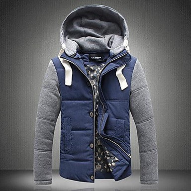 Men's Casual Fashion Hooded Thick Warm Jacket