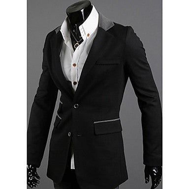 Stitching Collar Casual Suit Outwear
