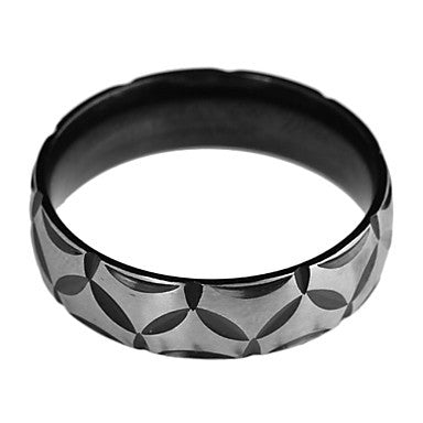 Fashion Men's Black Alloy Band Ring(Black)(1 Pc)
