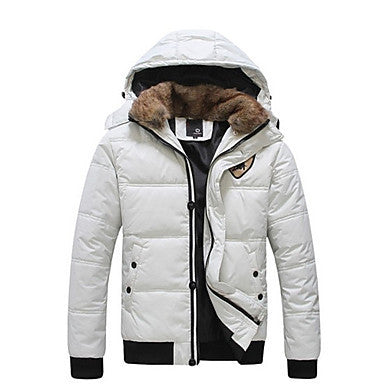 Men's Fur Collar Hoodie Padded Coat