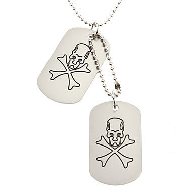 Crossbones Double-faced Necklace