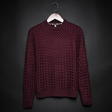 Men's Korean Pure Cotton Crewneck Sweater