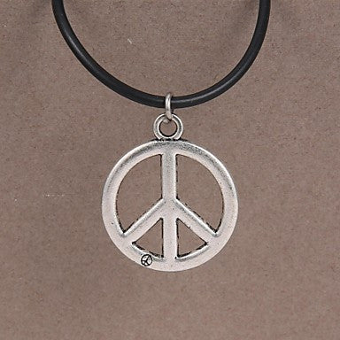 Fashion Stainless Steel Peace Symbol Pendant Necklace