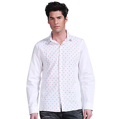 Men's Flower Print Long Sleeve Shirt