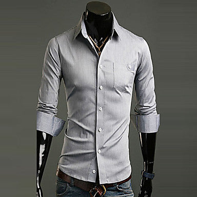 Men's Slim Fit Single Breasted Shirt