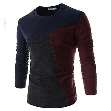 Men's Round Collar Slim Long Sleeve T-Shirts