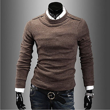 Men's Fashion Round Neck Long Sleeve Casual Sweater