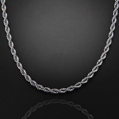 56cm,7mm,Silver-Plated Figaro Chain Men's Swirl Chain Necklace,Uneasy Fade
