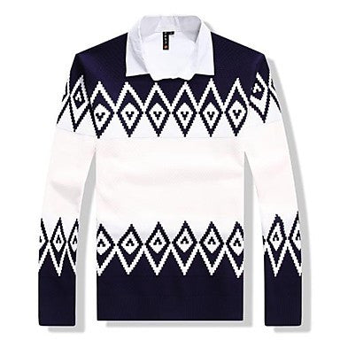 Men's Round Collar Fashion Knitwear Pullover More Colors