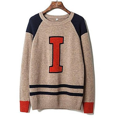 Men's New - hit color sweater Korean cultivating sweater