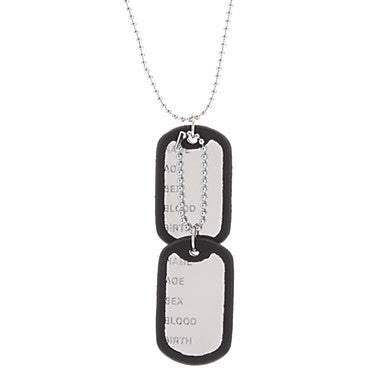 Bordure Metal nameplate Alloy Necklace