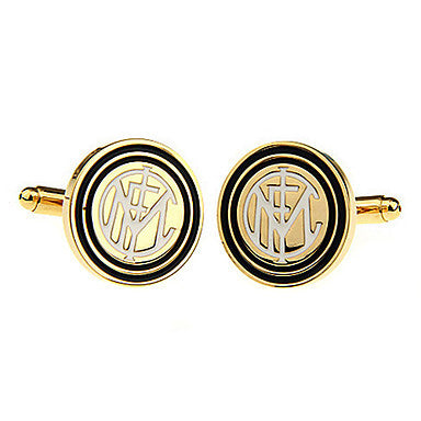 Men's Golden Round Cufflinks(2 PCS)