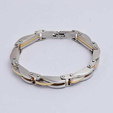 Fashion Men's High Quality Electroplating 316L Stainless Steel Tennis Bracelet