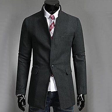 Men's Fasion Stand Collar Trench Coat