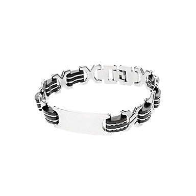 Classic X Shape 45cm Men's Black Titanium Steel ID Bracelet(1 Pc)