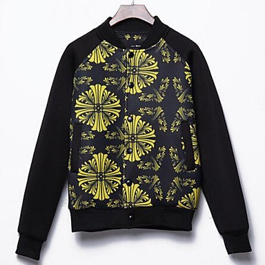 Men's Fall New Korean Style Casual Printing Long Sleeve Jackets