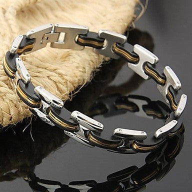 Men's Fashion Personality Silicon Titanium Steel Sheet Bracelets