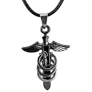 Fashion Angle Wing Shape Men's Pendant Necklace(1 Pc)