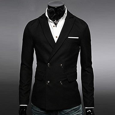 Men¡¯s Fashion Double Breasted Casual Long Sleeve Overcoat