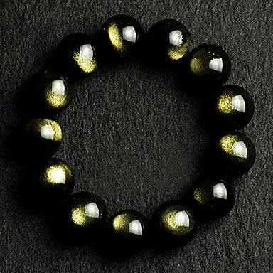 Health Caring Vintage Black Naturel Crystal Hologram Bracelet(1 Pc)