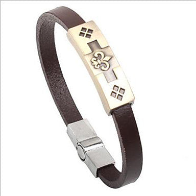 Punk Style Crowe Alloy Leather Bracelet(1 Pc)