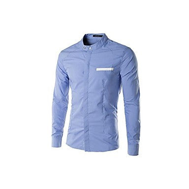 Chest Pocket Patched Long Sleeve Shirts