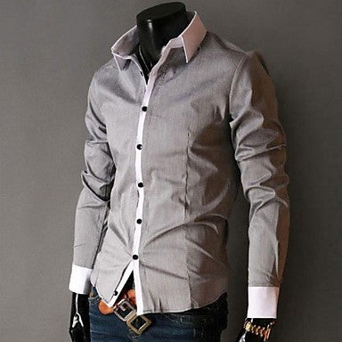 Men's Fashion Long Sleeved Shirt