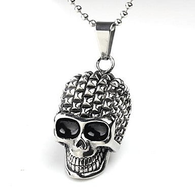 Punk Style Skull Titanium Steel Men's Pendant Necklace