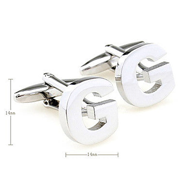 Letter G Pattern Unisex Cufflinks (Small)