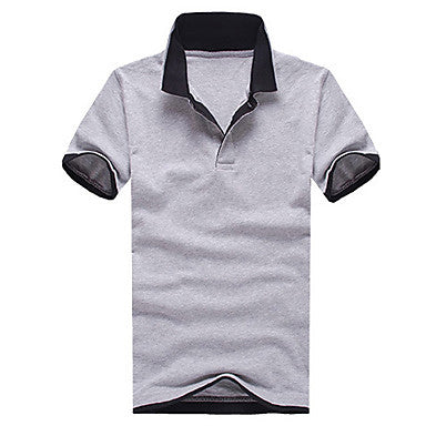 Men's Summer Cool And Refreshing And Breathe Freely Pure Color Male Lapel T-shirts