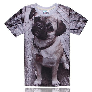Men's of High Quality 3D Creative with Short Sleeves¡ª¡ªDog Pattern