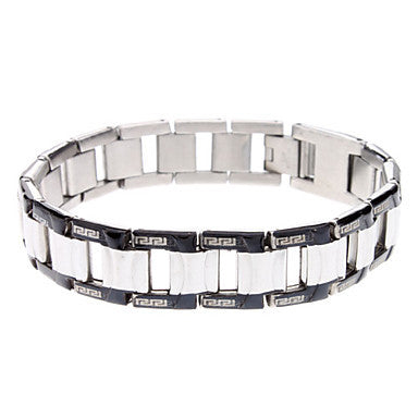 Chain Two-tone Great Wall Splay Stainless Steel Bracelet