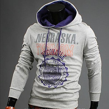 Men's Korean Style Print Hoodie Sweatshirt