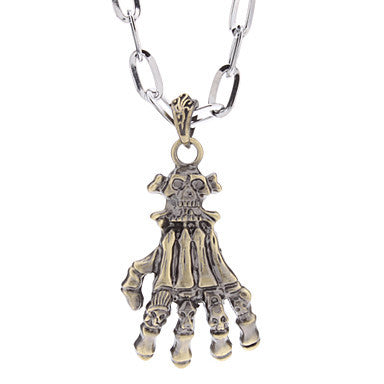 Skeleton Hand Alloy Necklace