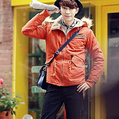 Men's Korean Style Thickened Hooded Coat